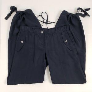 Tommy Hilfiger Pants Jogger Silk Athleisure Navy